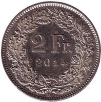 Гельвеция. Монета 2 франка. 2014 год, Швейцария.