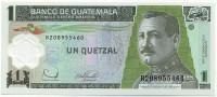 Хусто Руфино Барриос Ауйон. Банкнота 1 кетцаль. 2006 год, Гватемала.