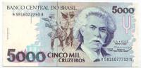 Карлос Гомес. Банкнота 5000 крузейро. 1990-1993 гг., Бразилия. Тип 3.