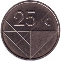 Монета 25 центов. 2006 год, Аруба.