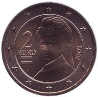 Монета 2 евро. 2008 год, Австрия.