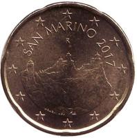 Монета 20 центов. 2017 год, Сан-Марино.
