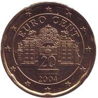 Монета 20 центов. 2004 год, Австрия.