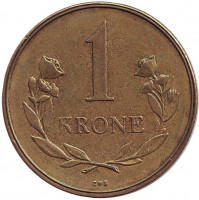 Монета 1 крона. 1957 год, Гренландия.