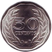 Монета 50 сентаво. 1979 год, Колумбия. UNC.