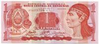 Вождь Лемпира. Банкнота 1 лемпира. 2006 год, Гондурас.