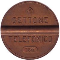 Телефонный жетон. 7811. Италия. 1978 год. (Отметка: CMM)