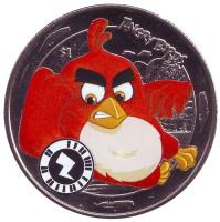 Angry Birds. (Злые птицы). Монета 1 доллар. 2018 год, Сьерра-Леоне.