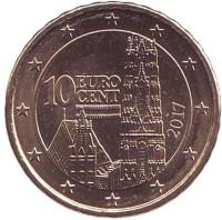 Монета 10 центов, 2017 год, Австрия.