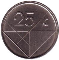 Монета 25 центов. 2007 год, Аруба.