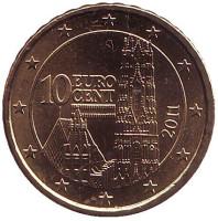 Монета 10 центов, 2011 год, Австрия.