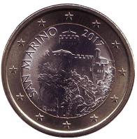 Монета 1 евро. 2017 год, Сан-Марино.