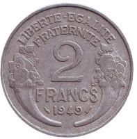 2 франка. 1949 год, Франция.