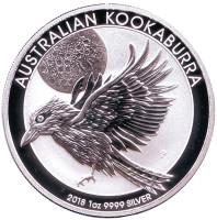Кукабарра. Монета 1 доллар. 2018 год, Австралия.