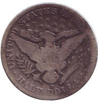 """""""50 центов Барбера"""". Монета 50 центов (1/2 доллара). 1900 год, США. (Отметка монетного двора: """"O"""" - Новый Орлеан)"""
