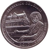Национальное историческое место Фредерика Дугласа. Монета 25 центов (P). 2017 год, США.