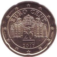 Монета 20 центов, 2017 год, Австрия.