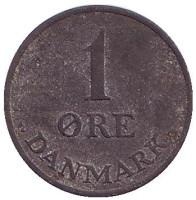 Монета 1 эре. 1949 год, Дания.