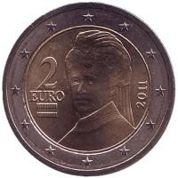 Монета 2 евро, 2011 год, Австрия.