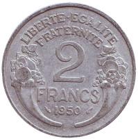 2 франка. 1950 год, Франция.