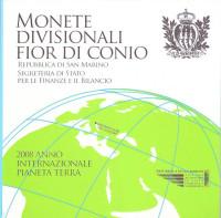Набор монет евро в буклете. 2008 год, Сан-Марино.