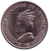 ФАО. Монета 50 сентаво. 1973 год, Гондурас.