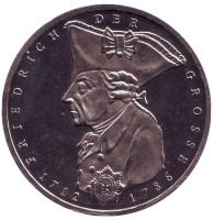 200 лет со дня смерти Фридриха II Великого. Монета 5 марок. 1986 год, ФРГ.