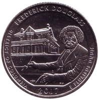 Национальное историческое место Фредерика Дугласа. Монета 25 центов (D). 2017 год, США.
