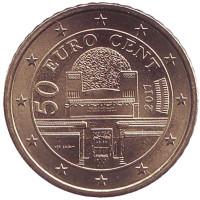 Монета 50 центов, 2017 год, Австрия.