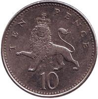 Монета 10 пенсов. 2007 год, Великобритания.