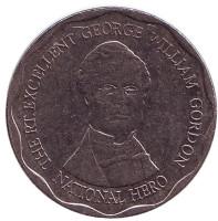 Джордж Гордон - национальный герой. Монета 10 долларов. 2008 год, Ямайка.