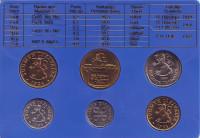 Набор монет Финляндии (6 шт), 1984 год, Финляндия. (в банковской упаковке)
