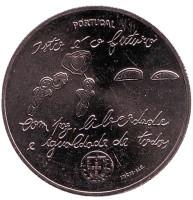 Молодежь и будущее. Монета 5 евро. 2017 год, Португалия.