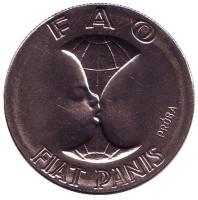 ФАО. Мать и дитя. Монета 10 злотых. 1971 год, Польша. (Проба)