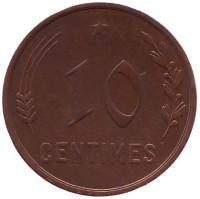 10 сантимов. 1930 год, Люксембург.