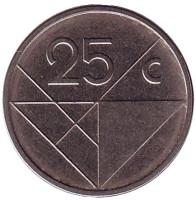 Монета 25 центов. 2012 год, Аруба.