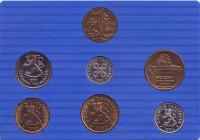 Набор монет Финляндии (6 шт., с жетоном), 1990 год, Финляндия. (в банковской упаковке)