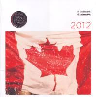 Празднование. Набор монет Канады (6 шт.) 2012 года. (с редким квотером).
