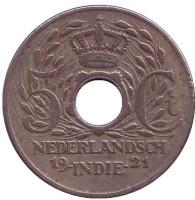 Монета 5 центов. 1921 год, Нидерландская Индия.