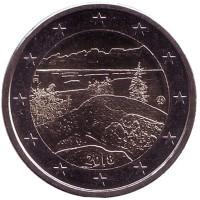 Коли. Национальные пейзажи Финляндии. Монета 2 евро. 2018 год, Финляндия.