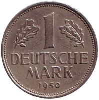 Монета 1 марка. 1950 год (J), ФРГ.