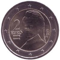 Монета 2 евро, 2017 год, Австрия.