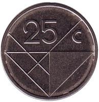 Монета 25 центов. 2013 год, Аруба.