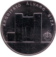 Архитектор Алвару Сиза Виейра. Монета 7,5 евро. 2017 год, Португалия.