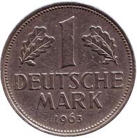 Монета 1 марка. 1963 год (J), ФРГ.
