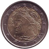 Монета 2 евро, 2008 год, Италия.