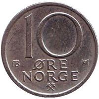 10 эре. 1977 год, Норвегия.