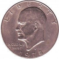 Дуайт Эйзенхауэр. 1 доллар, 1978 год (D), США.