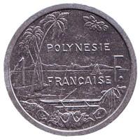 Монета 1 франк, 2001 год, Французская Полинезия. Из обращения.