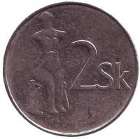 Статуя Венеры. Монета 2 кроны. 1994 год, Словакия.